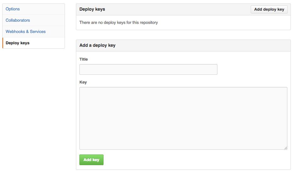 GitHub deploy key
